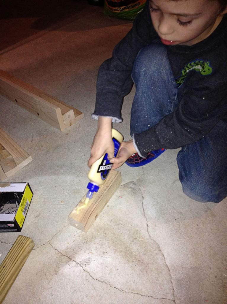 Glue a foot